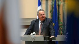 Ο υπουργός Εξωτερικών Νίκος Κοτζιάς. ΚΥΠΕ, ΚΑΤΙΑ ΧΡΙΣΤΟΔΟΥΛΟΥ