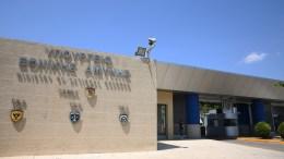 Εξωτερική άποψη του κτηρίου του υπουργείου Εθνικής Άμυνας. ΑΠΕ-ΜΠΕ/ΑΛΕΞΑΝΔΡΟΣ ΒΛΑΧΟΣ