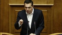 Ο πρωθυπουργός Αλέξης Τσίπρας μιλάει από το βήμα της Ολομέλειας της Βουλής. ΑΠΕ-ΜΠΕ, ΑΛΕΞΑΝΔΡΟΣ ΒΛΑΧΟΣ