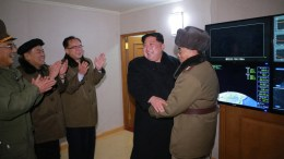 A file photo of North Korean leader Kim Jong Un giving an order to test-fire the newly developed inter-continental ballistic rocket Hwasong-15 on at an undisclosed location in North Korea,. EPA/KCNA EDITORIAL USE ONLY