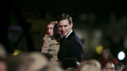 FILE PHOTO: Jared Kushner, senior White House adviser, departs with his son Theodore Kushner, during the lighting ceremony for the 2017 National Christmas Tree on the Ellipse near the White House, in Washington, DC, USA, 30 November 2017. EPA, Al Drago / POOL