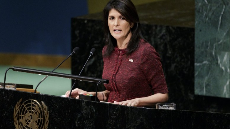 File Photo: US Ambassador to the United Nations Nikki Haley speaks during an United Nations General Assembly emergency special session to vote on a non-binding resolution condemning recent decisions about the status of Jerusalem at United Nations headquarters in New York, New York, USA. EPA, JUSTIN LANE