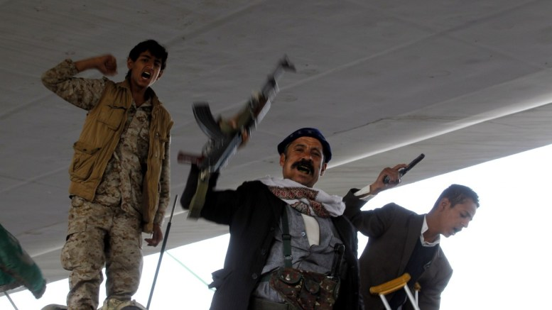FILE PHOTO. Houthi fighters in Yemen. EPA/YAHYA ARHAB