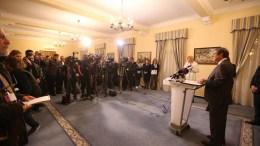 O Πρόεδρος της Δημοκρατίας κ. Νίκος Αναστασιάδης προβαίνει σε δηλώσεις για το αποτέλεσμα των Προεδρικών Εκλογών 2018. Φωτογραφία Σταυρος Ιωαννιδη