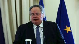 File Photo: Ο υπουργός Εξωτερικών, Νίκος Κοτζιάς σε παλαιότερες δηλώσεις του ΑΠΕ-ΜΠΕ/ΑΠΕ-ΜΠΕ/ΟΡΕΣΤΗΣ ΠΑΝΑΓΙΩΤΟΥ