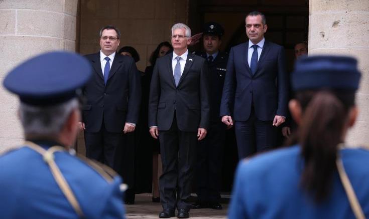 «Επιδίωξή μου να ανεβάσω την πολύ στενή μας σχέση σε ένα ακόμη υψηλότερο επίπεδο», λέει ο νέος πρέσβης του Ισραήλ στην Κύπρο. Φωτογραφία ΚΥΠΕ.