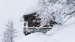 A snow covered house in Niederwald at the Goms valley, Switzerland, 22 January 2018. Due to heavy snowfall, the train track is shut down between Fiesch and Oberwald. The roads are closed between Niederwald and Oberwald. EPA, DOMINIC STEINMANN