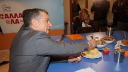 O επικεφαλής του Ποταμιού Σταύρος Θεοδωράκης στη Συνεδρίαση του Πολιτικού Συμβουλίου του Κινήματος Αλλαγής, στα γραφεία του Ποταμιού , Παρασκευή 26 Ιανουαρίου 2018. ΑΠΕ-ΜΠΕ,Παντελής Σαίτας