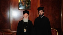 Ο Οικουμενικός Πατριάρχης Βαρθολομαίος στο Φανάρι με τον Μητροπολίτη Αυστρίας Αρσένιο (Καρδαμάκη). Φωτογραφία Νικόλαος Μαγγίνας