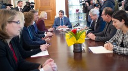 Ο Πρόεδρος της Δημοκρατίας κ. Νίκος Αναστασιάδης δέχεται την Ειδική Αντιπρόσωπο του ΓΓ του ΟΗΕ στην Κύπρο κα Ελίζαμπεθ Σπέχαρ, Λευκωσία 15 Φεβρουαρίου 2018. ΓΤΠ, Σ.ΙΩΑΝΝΙΔΗΣ, KYΠΕ.