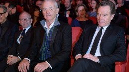 Bill Murray (L) and Bryan Cranston (R) sit among the audience at the beginning of the opening ceremony of the 68th annual Berlin International Film Festival (Berlinale), in Berlin, Germany, 15 February 2018. The Berlinale runs from 15 to 25 February. EPA, CLEMENS BILAN