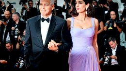 US film director George Clooney with his wife British human rights barrister Amal Alamuddin Clooney arrive for the premiere of 'Suburbicon' File Photo EPA, ETTORE FERRARI