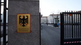 View of the entrance to the Federal Ministry of Defense in Berlin, Germany, 28 February 2018. German media reports on a successful cyber attack on German security networks including the German Ministries for Defense and Foreign Affairs by Russian hacker group known as APT28. EPA, FELIPE TRUEBA