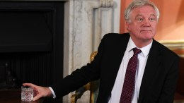 Britain's Secretary of State for Exiting the European Union David Davies sits for a press conference with European Chief Negotiator for the United Kingdom Exiting the European Union, Michel Barnier (not pictured) at 10 Downing Street in London, Britain, 05 February 2018. Barnier is in London for another round of talks concerning Britains decision to leave the EU, dubbed Brexit. EPA/NEIL HALL / POOL
