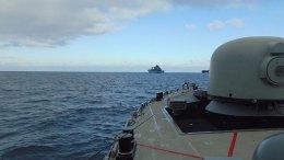 Πλοίο του Πολεμικού Ναυτικού στο Αιγαίο. Photo via Hellenic Navy