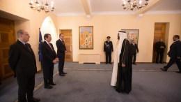 O Πρόεδρος της Δημοκρατίας κ. ΝίκοςΑναστασιάδης δέχεται τα διαπιστευτήρια του νέου Πρέσβη των Ηνωμένων Αραβικών Εμιράτων κ. Sultan Ahmed Ghanem Al Suwaidi, Λευκωσία 7 Φεβρουαρίου 2018. Φωτογραφία ΓΤΠ, ΣΤ. ΙΩΑΝΝΙΔΗΣ