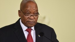 South African President Jacob Zuma addresses the media during a national television address in which he resigned, Pretoria, South Africa, 14 February 2018. President Zuma has been under intense pressure to resign amidst ongoing corruption and state capture allegations. EPA, STR