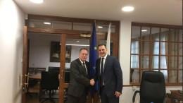Συνάντηση  του Γ. Κουμουτσάκου  με τον Υπουργό Ενέργειας της Κύπρου για την παραβατική & προκλητική συμπεριφορά της Τουρκίας στην Κυπριακή ΑΟΖ, στις 22 Φεβρουαρίου.   Photo via Twitter   @GKoumoutsakos