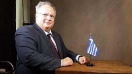Ο υπουργός Εξωτερικών της Ελλάδας Νίκος Κοτζιάς. PHOTO: Ministry of Foreign Affairs