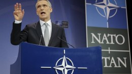 NATO Secretary General Jens Stoltenberg speaks during a media conference at the end of the meeting of North Atlantic Treaty Organization (NATO) Defence Ministers at the NATO headquarters in Brussels, Belgium, 15 February 2018. NATO defense ministers earlier the same day began a two-day meeting. EPA, OLIVIER HOSLET