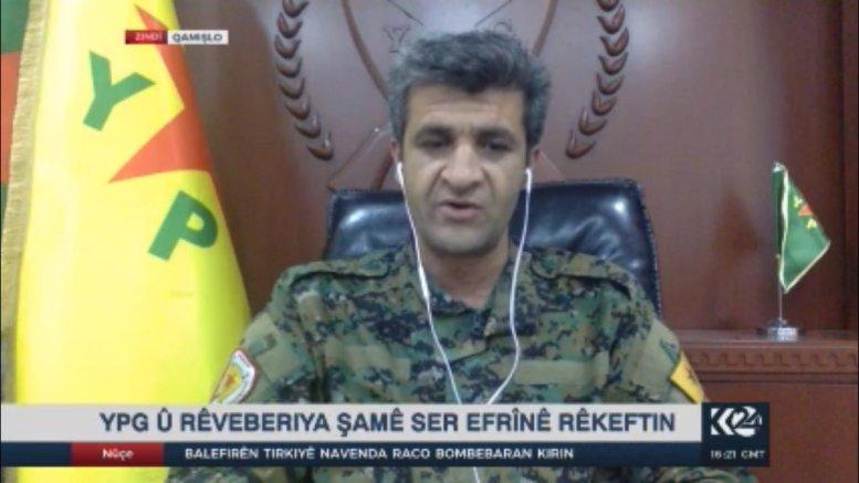 Ο εκπρόσωπος του YPG, Nouri Mahmoud. Φωτογραφία via Kurdish TV