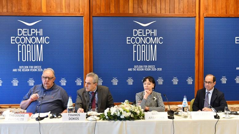 O Θεόδωρος Πάγκαλος πρώην υπουργός Εξωτερικών στο 2ο Οικονομικό Φόρουμ των Δελφών. FILE PHOTO, ΑΠΕ-ΜΠΕ, http://www.delphiforum.gr, STR