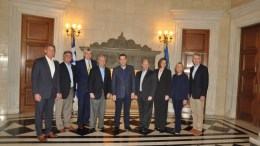 Geoffrey Pyatt:  Very much appreciate Prime minister warm welcome and discussion of strong US and Greece relationship, deepening defense cooperation & Greece's leadership role in the region with Congressional delegation.   Photo via Twitter @USAmbGreece