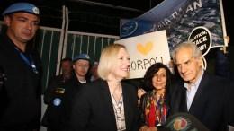 FILE PHOTO. H Ειδική Αντιπρόσωπος του Γενικού Γραμματέα των Ηνωμένων Εθνών για την Κύπρο Ελίζαμπεθ Σπέχαρ. ΚΥΠΕ, ΚΑΤΙΑ ΧΡΙΣΤΟΔΟΥΛΟΥ