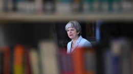 British Prime Minister Theresa May delivers a speech to students and staff during her visit to Derby College in Derby, East Midlands, Britain, 19 February 2018. Media reports state that Theresa May announced a review of tuition fees stating that England has one of the most expensive systems of university tuition in the world. EPA, FACUNDO ARRIZABALAGA / POOL