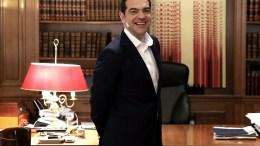 Ο πρωθυπουργός Αλέξης Τσίπρας στο Μέγαρο Μαξίμου. ΑΠΕ-ΜΠΕ, ΣΥΜΕΛΑ ΠΑΝΤΖΑΡΤΖΗ