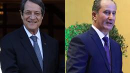 Οι δύο μονομάχοι του β' γύρου των προεδρικών εκλογών της Κύπρου Αναστασιάδης και Μαλάς. Φωτογραφία ΚΥΠΕ.