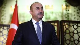 Ο Τούρκος υπουργός Εξωτερικών Μεβλούτ Τσαβούσογλου. Φωτογραφία via Twitter.