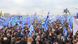 """File Photo: Thousands of people participate in the rally for the Greek Macedonia naming dispute, in Thessaloniki, Greece. The Macedonia, which belong to Greece, name dispute is a political dispute between Greece and FYROM. Greece opposes the use of the name """"Macedonia"""" by the FYROM. Millions of Greeks identify themselves as Macedonians, unrelated to the Slavic people who are associated with the FYROM. Greece further objects to the use of the term """"Macedonian"""" for the neighboring country's largest ethnic group and its language.  EPA, VASSILIS VERVERIDIS"""