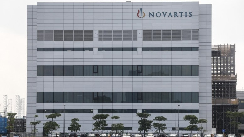 The exterior of one of the Swiss pharmaceutical Novartis buildings. EPA/WALLACE WOON