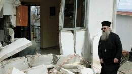 Οι κάτοικοι του ορεινού χωριού Πιαλεία Τρικάλων μέσα σε μια μέρα είδαν τις περιουσίες τους να καταστρέφονται λόγω των κατολισθήσεων, Τρίτη 27 Φεβρουαρίου 2018.  ΑΠΕ-ΜΠΕ, ΧΑΣΙΑΛΗΣ ΒΑΪΟΣ