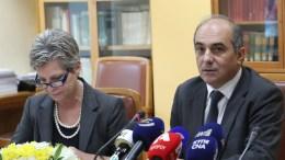 Ο Πρόεδρος της Βουλής των Αντιπροσώπων κ. Δημήτρης Συλλούρης παραχωρεί συνέντευξη Τύπου σχετικά με τις επαφές στην Αθήνα για τον Φάκελο της Κύπρου, Λευκωσία 12 Φεβρουαρίου 2018. ΓΤΠ, Χ.ΑΒΡΑΑΜΙΔΗΣ, KYΠΕ