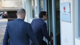 FILE PHOTO: Ο πρωθυπουργός Αλέξης Τσίπρας φτάνει στα γραφεία του ΣΥΡΙΖΑ. ΑΠΕ - ΜΠΕ, Αλέξανδρος Μπελτές