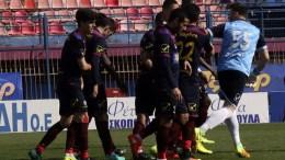 FILE PHOTO: Παίκτες της Βέροιας πανηγυρίζουν γκολ, ΑΠΕ-ΜΠΕ, ΑΝΑΣΤΑΣΙΑ ΑΣΙΚΙΔΟΥ