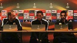 O προπονητής της ΑΕΚ Μανόλο Χιμένεθ στη συνέντευξη τύπου εν όψει του αγώνα με τη Δυναμό Κιέβου. Φωτογραφία ΑΠΕ-ΜΠΕ