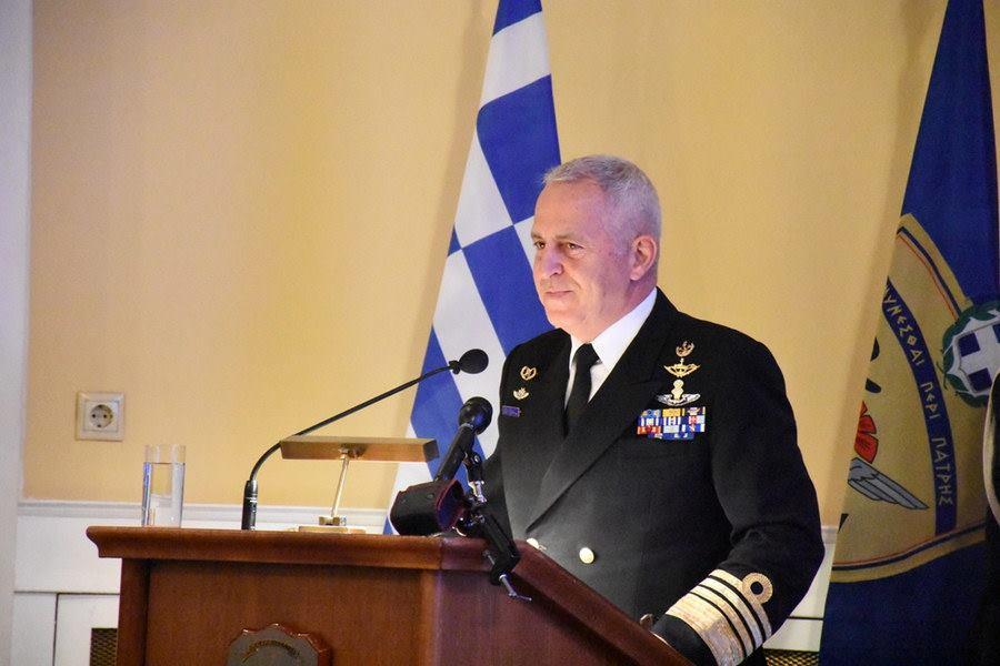 File Photo: Ο Έλληνας Αρχηγός ΓΕΕΘΑ, Ναύαρχος Βαγγέλης Αποστολάκης. Φωτογραφία Γενικό Επιτελείο Στρατού