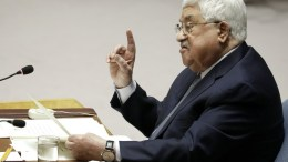 File Photo: Mahmoud Abbas, President of the Palestine Authority addresses a Security Council meeting on the situation in the Middle East. EPA, JASON SZENES