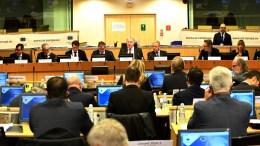 FILE PHOTO.  Ο Ευρωπαίος επίτροπος Δημήτρης Αβραμόπουλος (3Δ), παρακολουθεί ομιλία στην πρώτη Διάσκεψη Δημάρχων της ΕΕ για την καταπολέμηση της τρομοκρατίας. ΑΠΕ ΜΠΕ, European Union, FRED GUERDIN