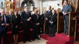 Ο Πρόεδρος της Δημοκρατίας κ. Νίκος Αναστασιάδης στο ετήσιο μνημόσυνο του πρώην Προέδρου της Δημοκρατίας Σπύρου Κυπριανού. Φωτογραφία ΓΤΠ, ΣΤ. ΙΩΑΝΝΙΔΗΣ