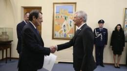 File Photo: Ο Πρόεδρος της Δημοκρατίας κ. Νίκος Αναστασιάδης δέχεται τα διαπιστευτήρια του νέου Πρέσβη του Ισραήλ κ. Shmuel Revel. ΓΤΠ , Σ.ΙΩΑΝΝΙΔΗΣ