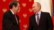 File Photo: Ο Πρόεδρος της Δημοκρατίας κ. Νίκος Αναστασιάδης και ο Πρόεδρος της Ρωσικής Ομοσπονδίας κ. Vladimir Putin προβαίνουν σε δηλώσεις στα ΜΜΕ, στη Μόσχα. ΓΤΠ , Χ. ΑBΡΑΑΜΙΔΗΣ