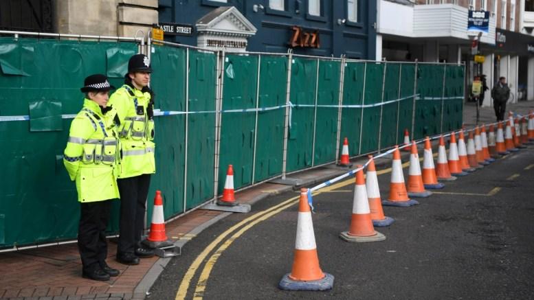 File Photo: British police stand on guard. EPA, NEIL HALL