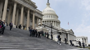 File Photo: US President Donald J. Trump (C), Speaker of the House Republican Paul Ryan (L), Prime Minister (Taoiseach) of Ireland Leo Varadkar (2-L), Republican Representative from New York Peter King (2-R) and US Vice President Mike Pence (R), walk down the steps of the US Capitol. EPA, ALEX EDELMAN / POOL