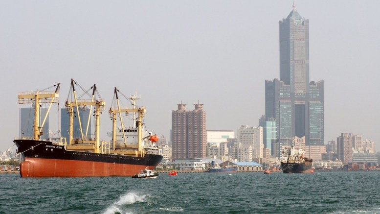 File Photo: A container ship is berthed in the Kaohsiung Harbour in Kaohsiung, southern Taiwan EPA, DAVID CHANG