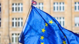 File Photo: An EU flag . EPA/ARMANDO BABANI