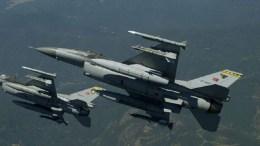 File Photo: Τουρκικά μαχητικά F-16. Φωτογραφία via Τουρκική Αεροπορία.
